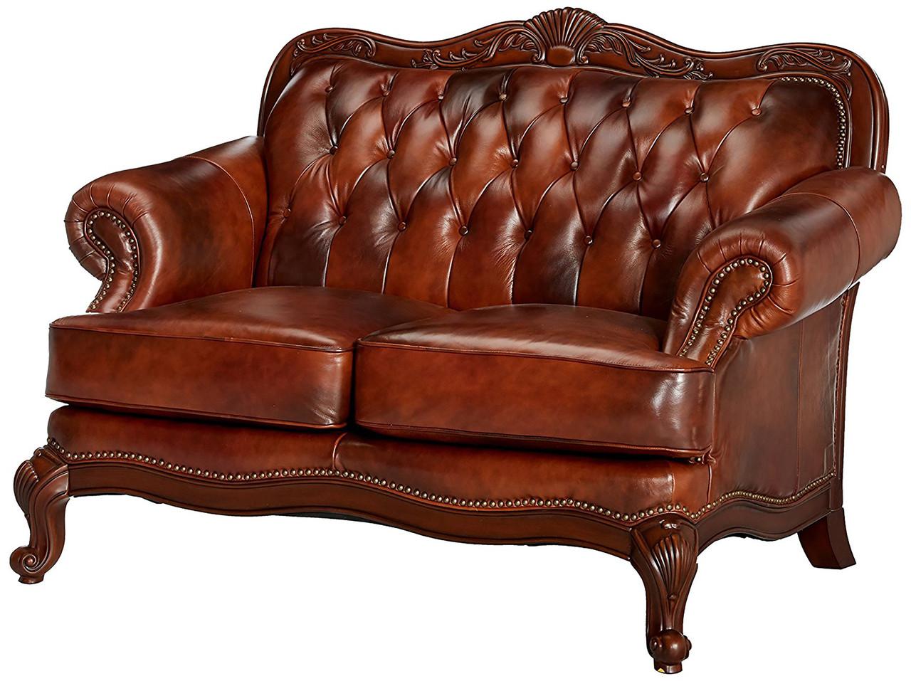 Fantastic Gordon Top Grain Leather Loveseat Bralicious Painted Fabric Chair Ideas Braliciousco