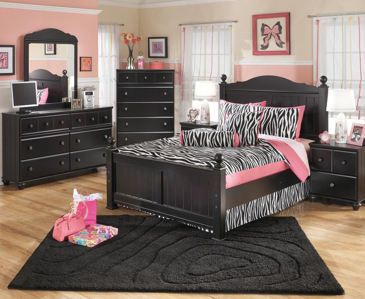 Jocelyn Black Poster Bedroom Set - CB Furniture