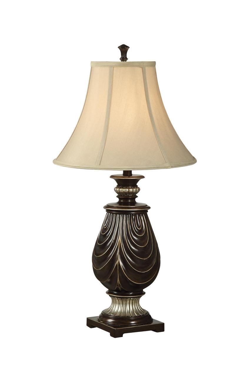 Clorinda Dark Coffee Traditional Table Lamp