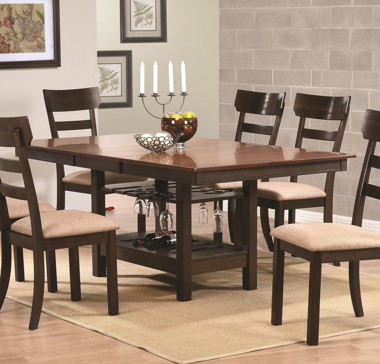 Diego Light Dark Walnut 7pc Dining Set Cb Furniture
