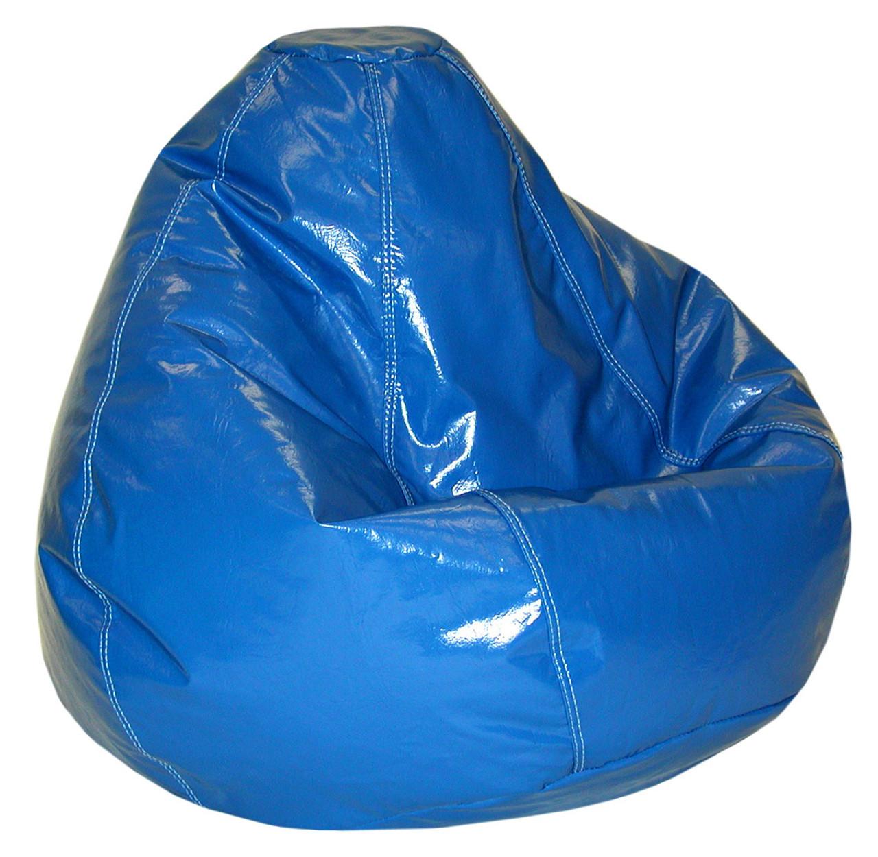 Pleasant Blue Wetlook Large Size Beanbag Machost Co Dining Chair Design Ideas Machostcouk