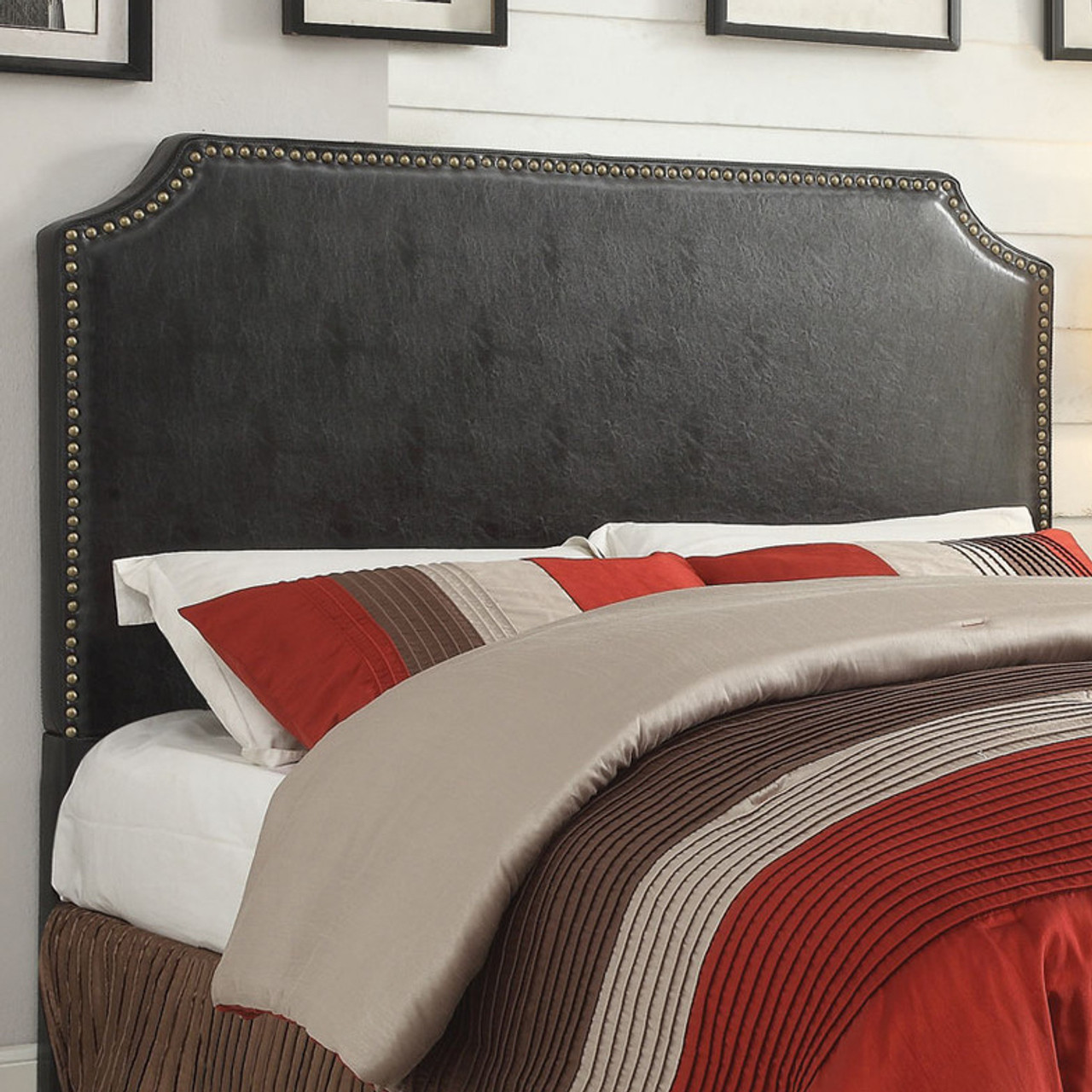 Picture of: Natali Black Queen Headboard Cb Furniture