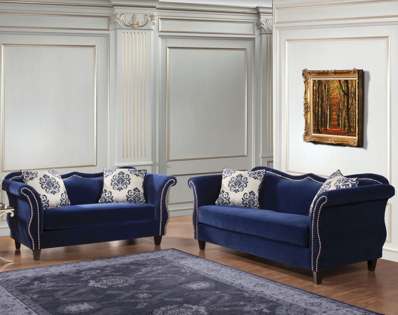 Maravilla royal blue livingroom cb furniture