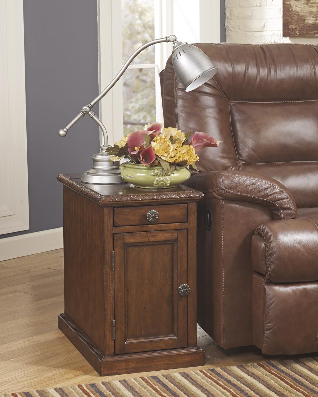 Hadwin Dark Brown Power Chairside End Table Cb Furniture