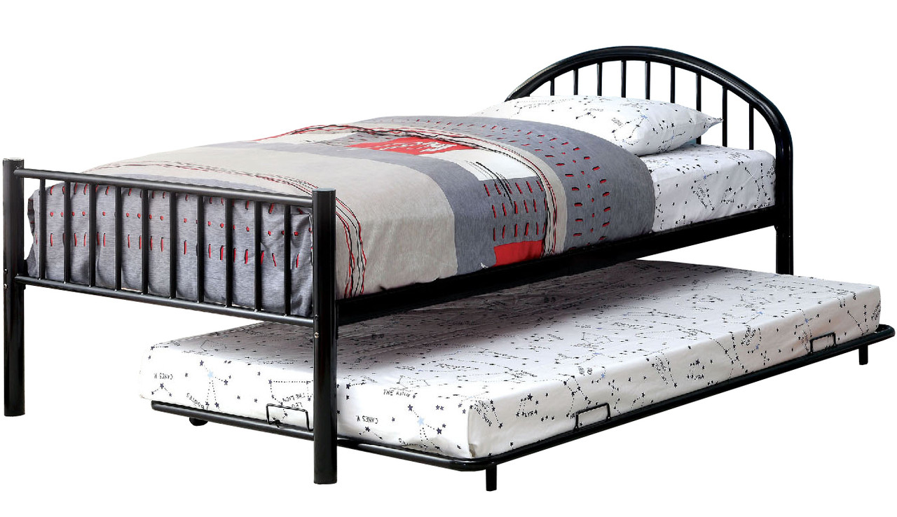 Riley Black Bed With Trundle Cb Furniture