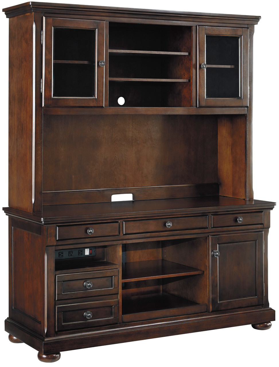 Kirkland Brown Credenza Hutch Cb Furniture
