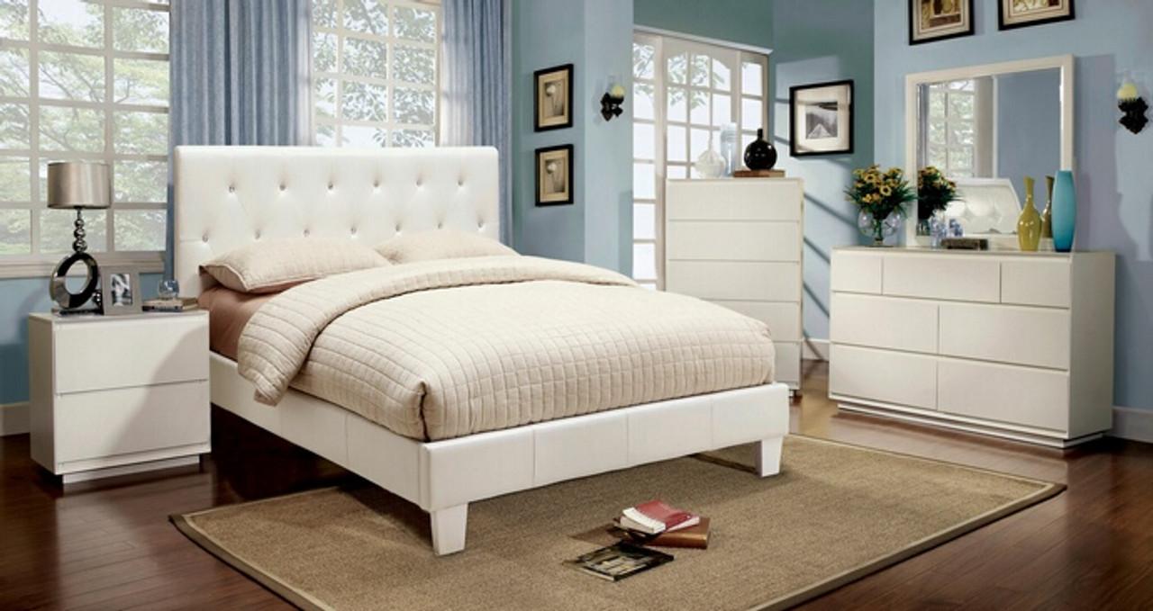 Remy Eastern King Bedroom Set White