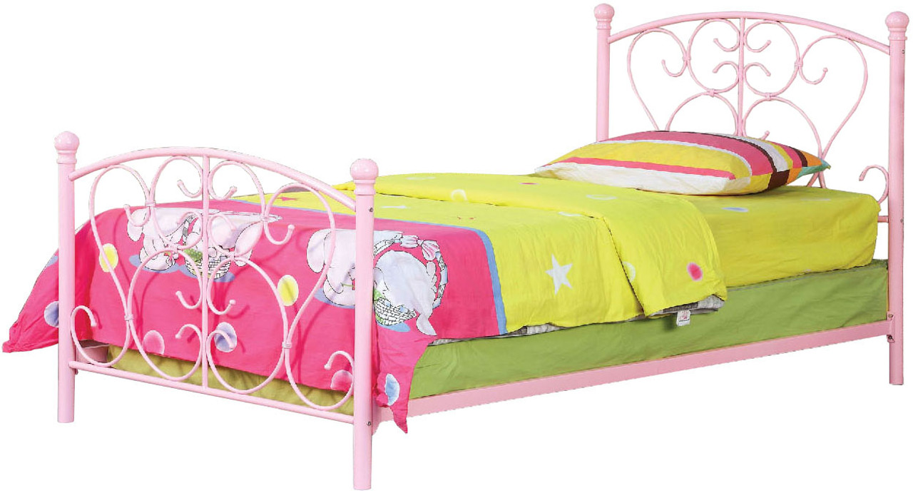 Adalyn Pink Twin Bed Cb Furniture