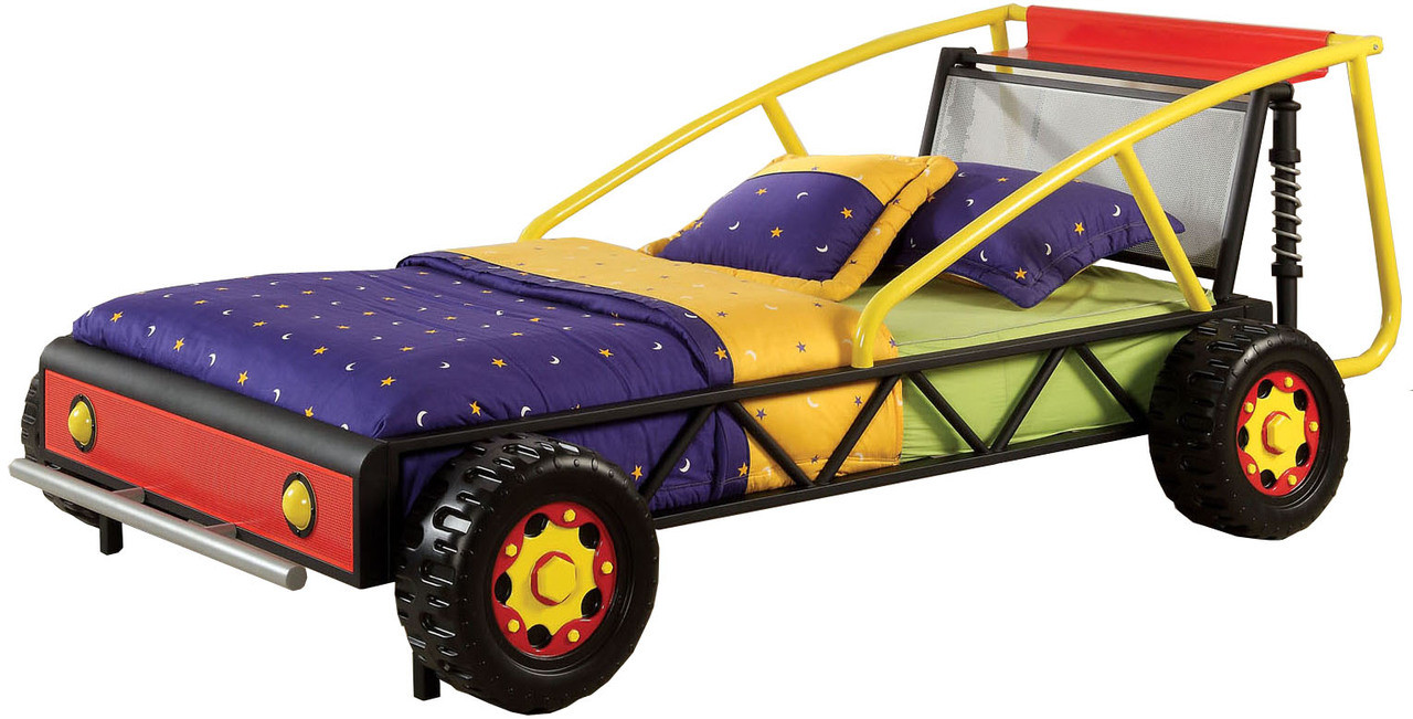 Aaron Red Yellow Race Car Bed Cb Furniture