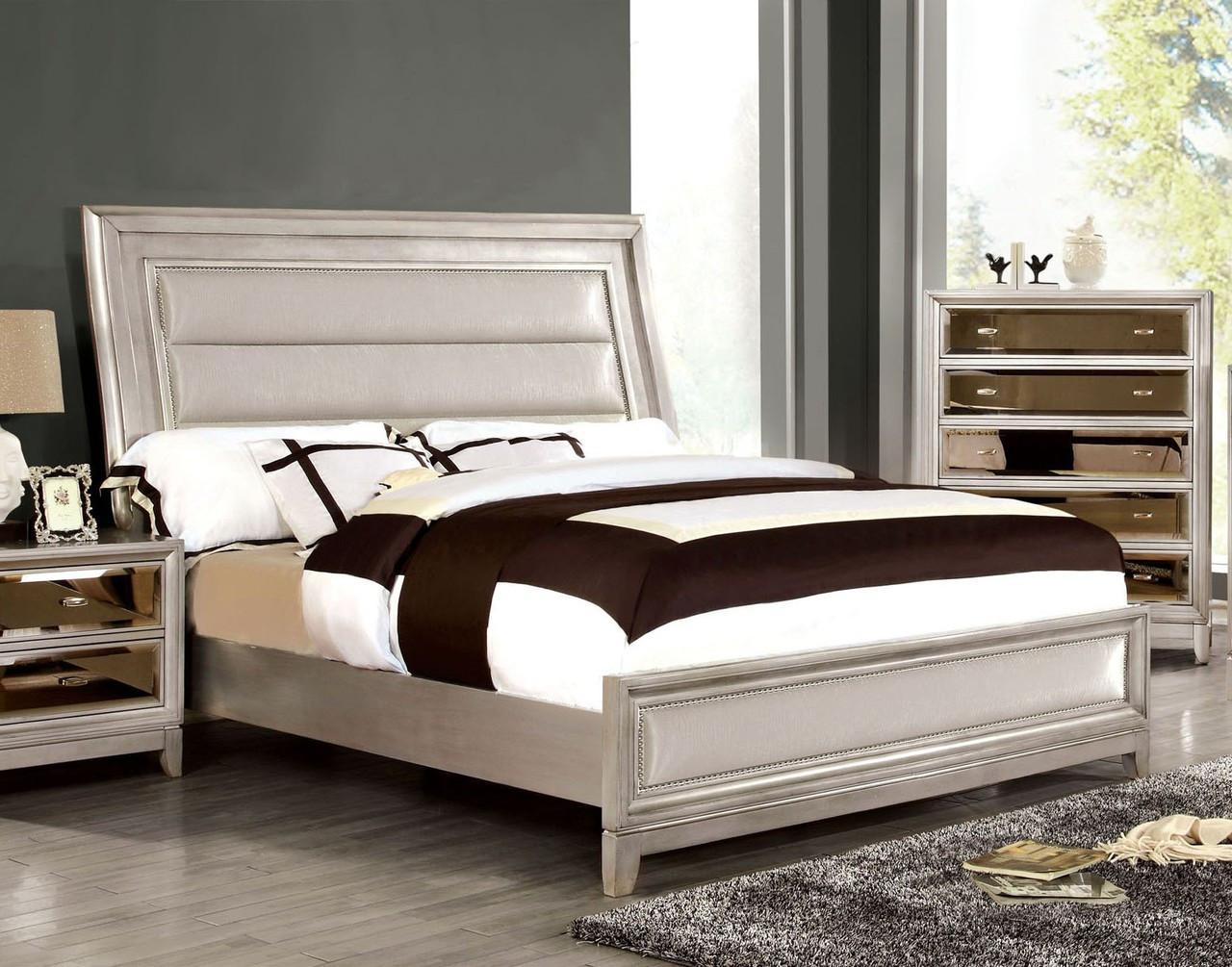 Kirsten Queen Silver Bedroom Set