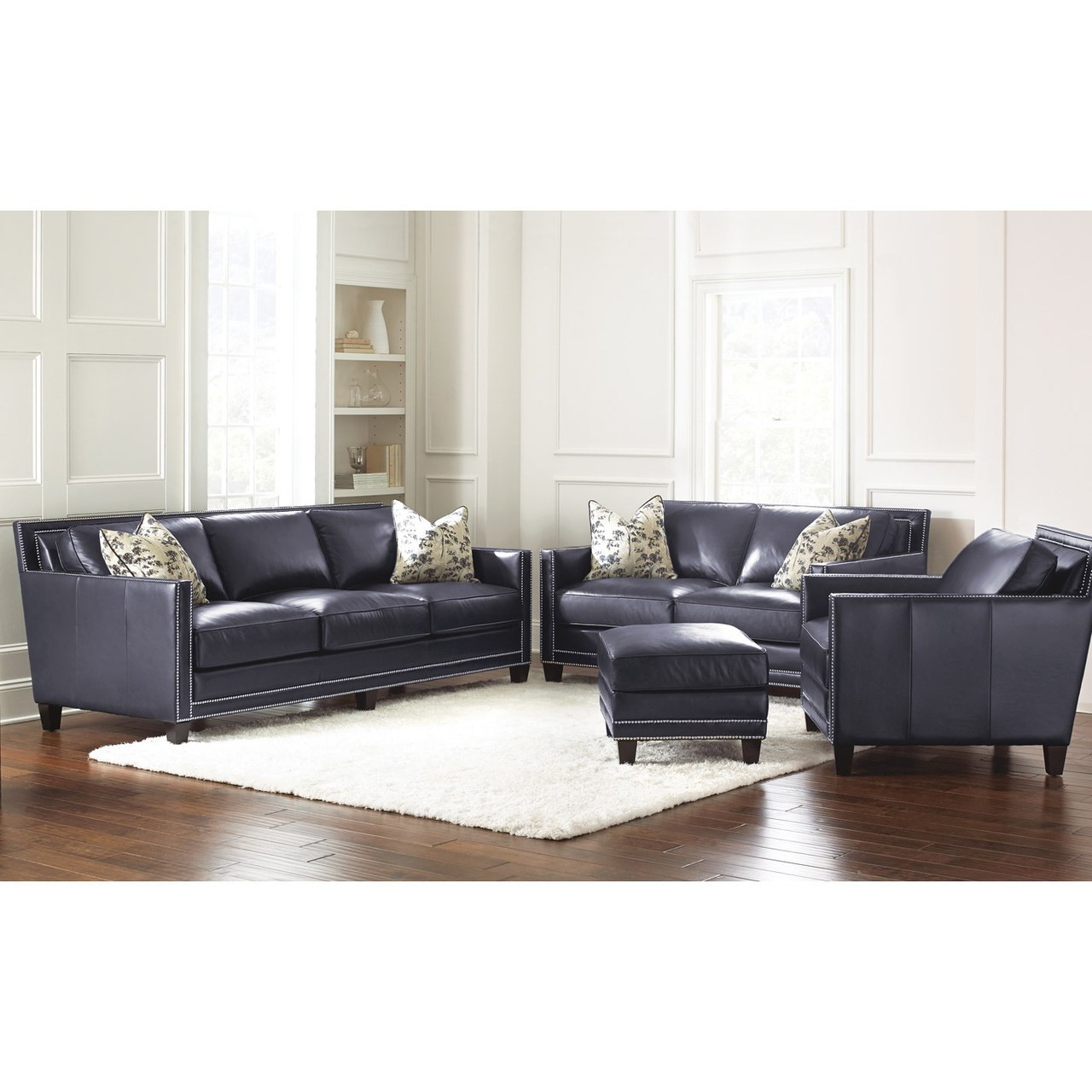 Johnson Navy Blue Sofa & Loveseat - CB Furniture