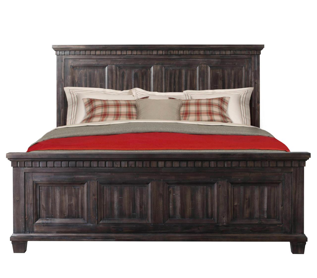 Santa Fe Weathered Black Oak finish 6pc Bedroom Set