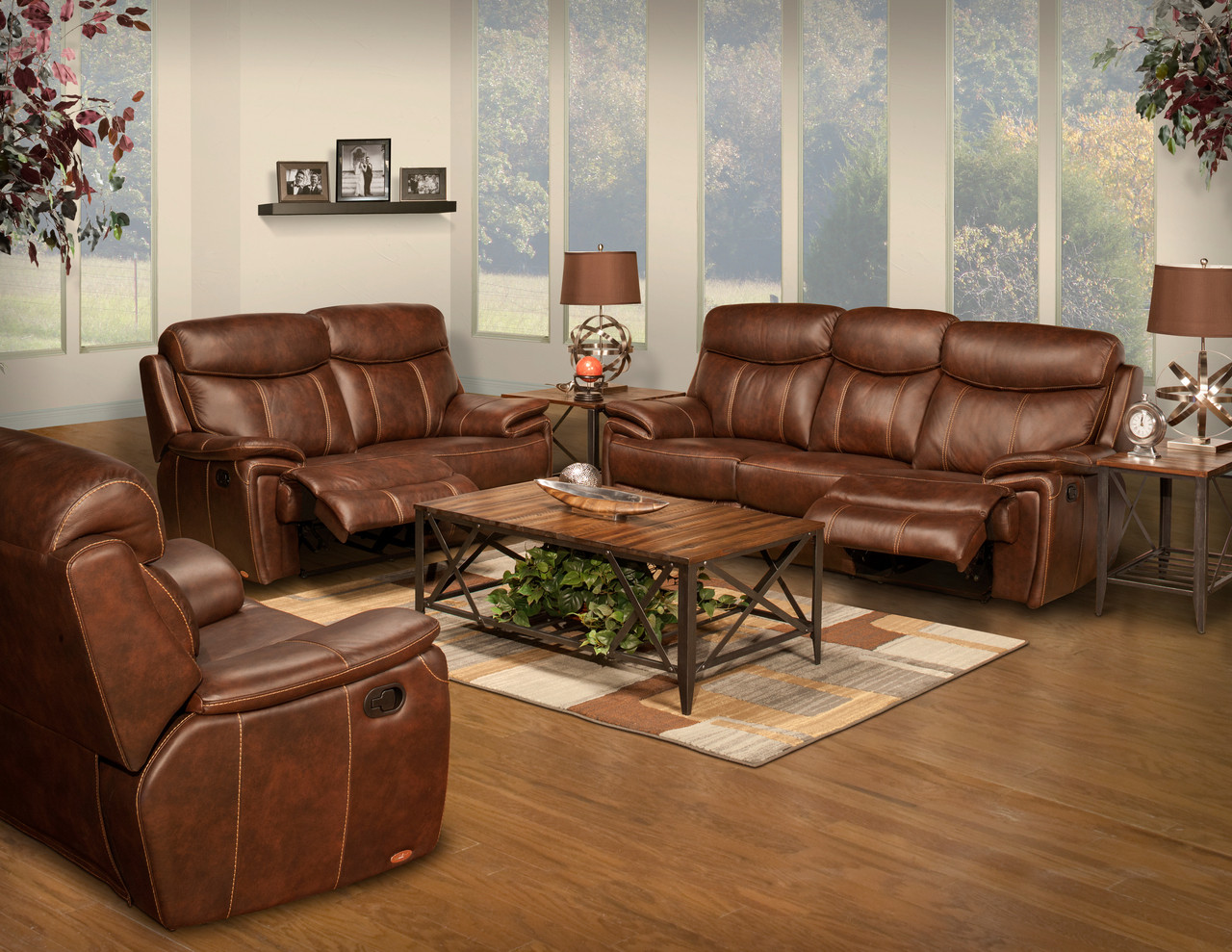Legend Brown Top Grain Leather Reclining Livingroom Set Cb Furniture
