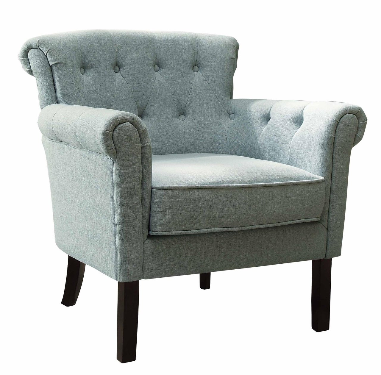Miraculous Melody Blue Fabric Tufted Back Accent Arm Chair Caraccident5 Cool Chair Designs And Ideas Caraccident5Info