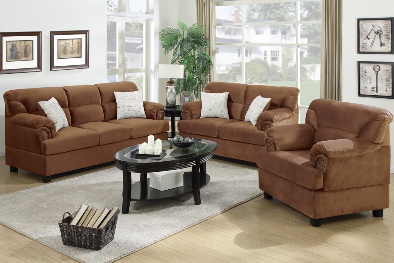 Terrific Kerian Saddle 3Pc Living Room Set Theyellowbook Wood Chair Design Ideas Theyellowbookinfo