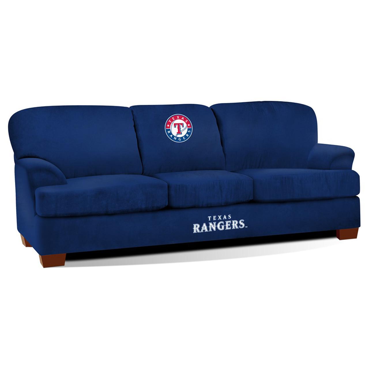 Texas Rangers Blue Microfiber Sofa