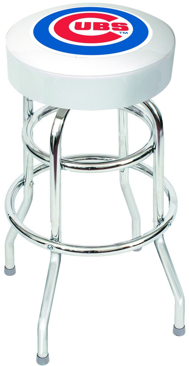 Excellent Chicago Cubs Bar Stool Squirreltailoven Fun Painted Chair Ideas Images Squirreltailovenorg