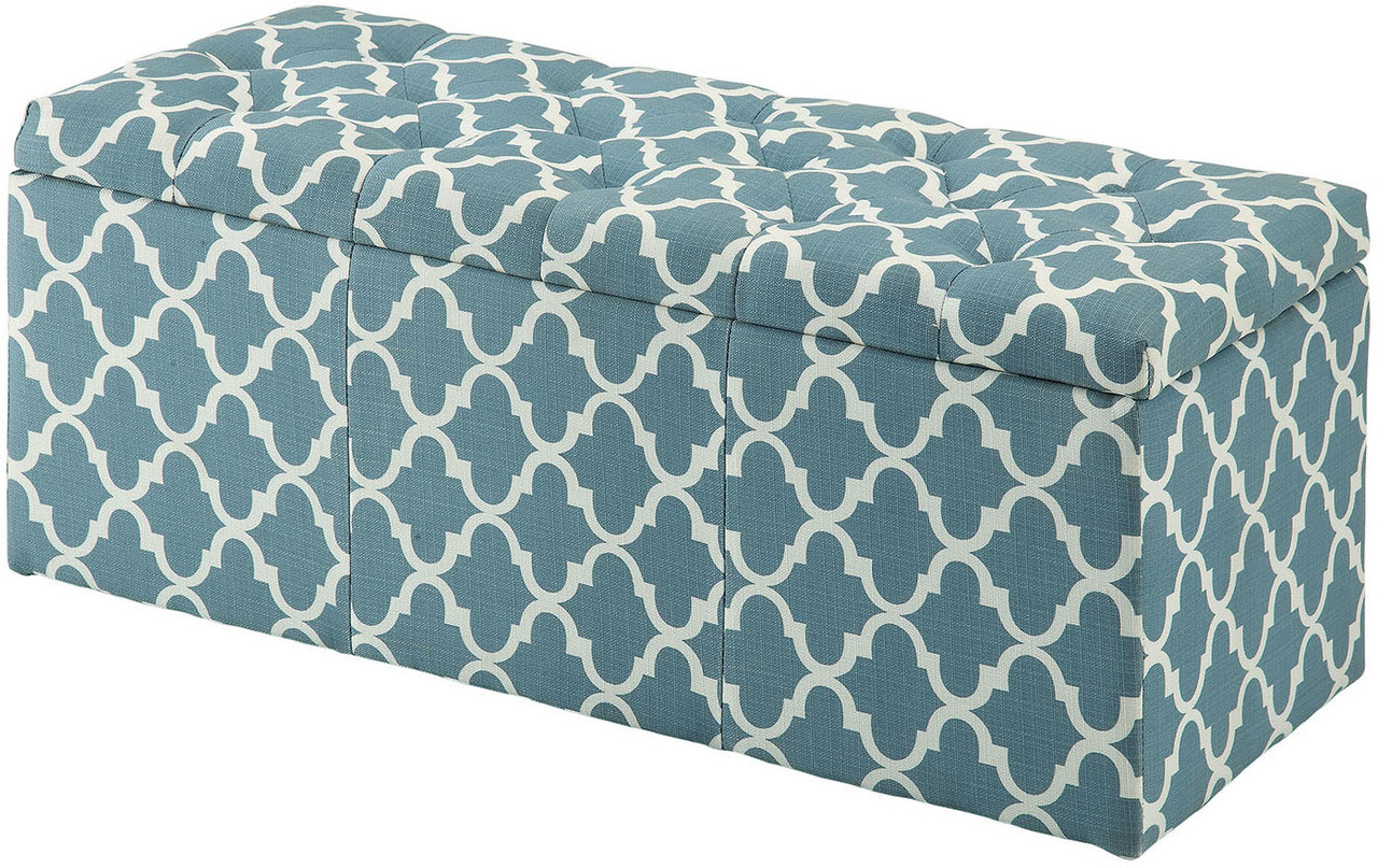 Surprising Fusion Blue Storage Bench Pdpeps Interior Chair Design Pdpepsorg