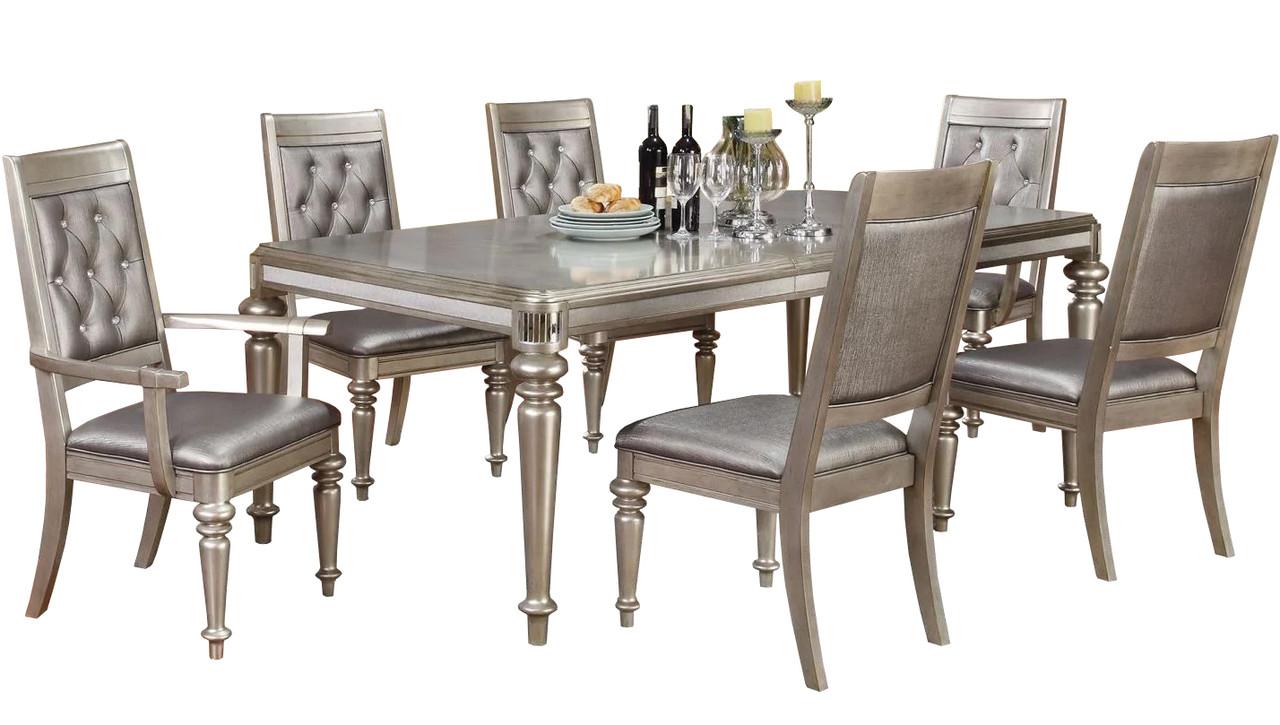 Emery Platinum 7 Piece Dining Set