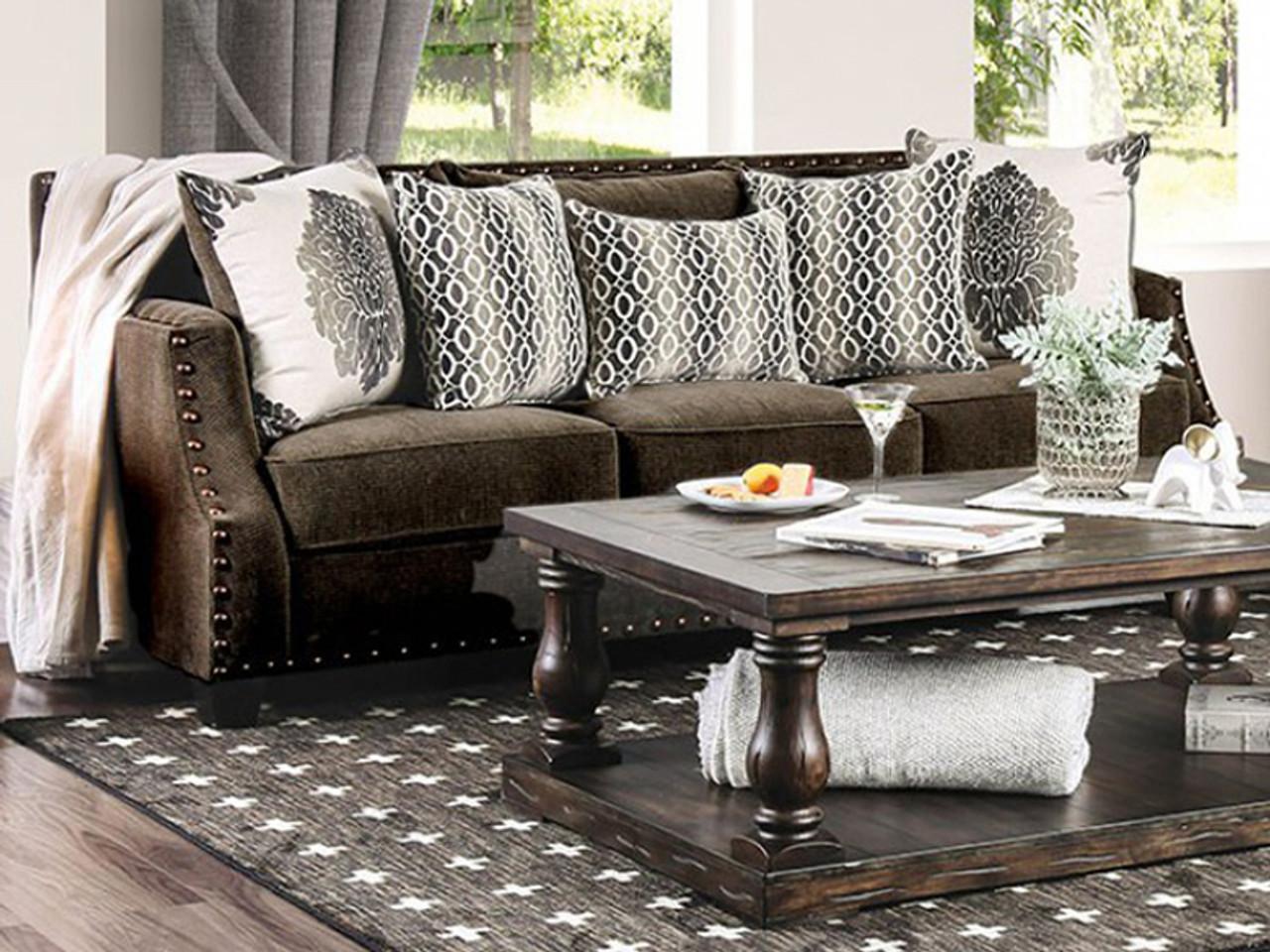 Adorjan Brown Sofa Cb Furniture
