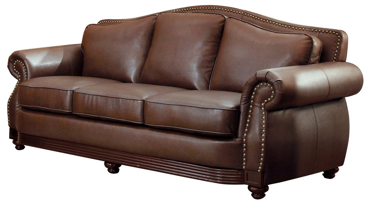 Butch Brown Bonded Leather Sofa & Loveseat - CB Furniture