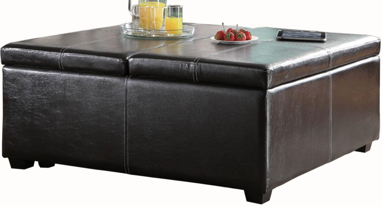 - Simon Brown Lift-Top Storage Coffee Table/Ottoman - CB Furniture