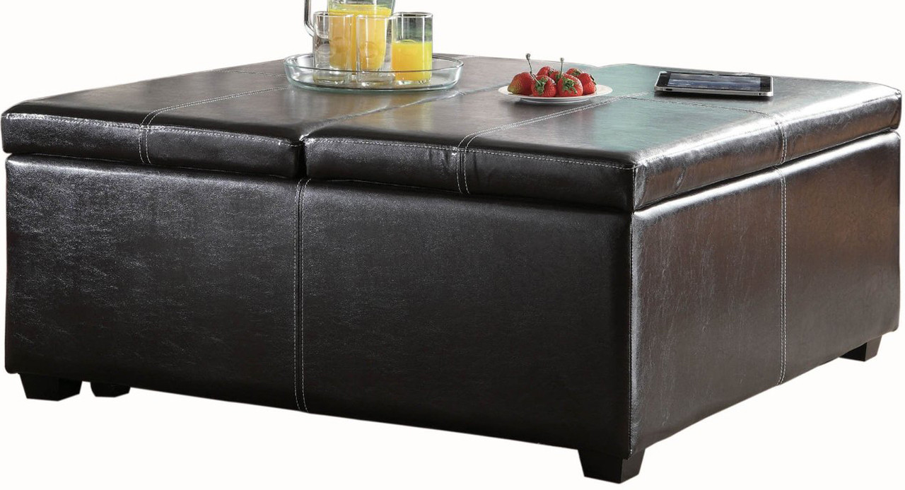 Simon Brown Lift Top Storage Coffee Table Ottoman Cb Furniture