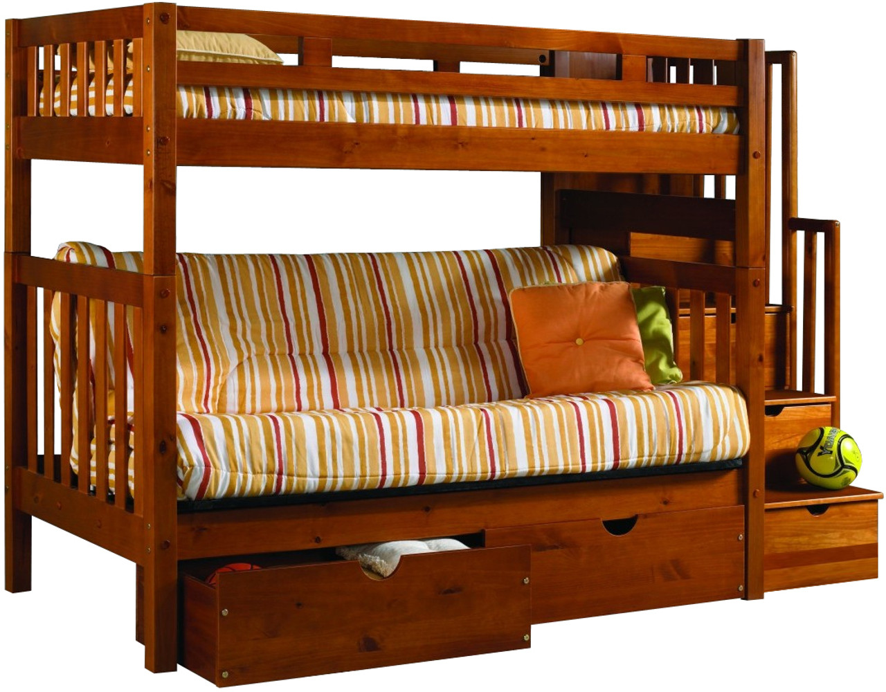 Picture of: Boulder Stairway Futon Bunk Bed Cb Furniture