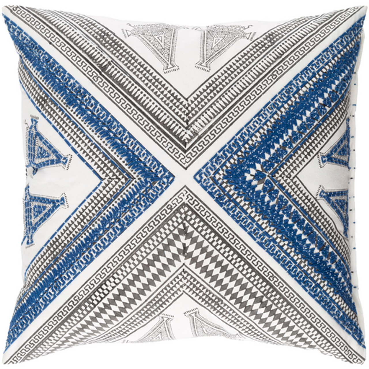 Designer Navy Throw Pillow Cb Furniture