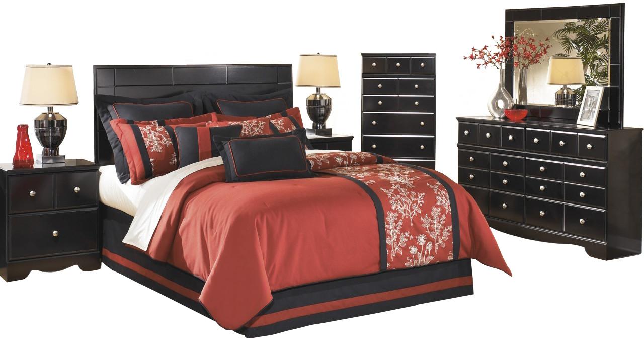 Dominic Black Panel Bedroom Set - CB Furniture