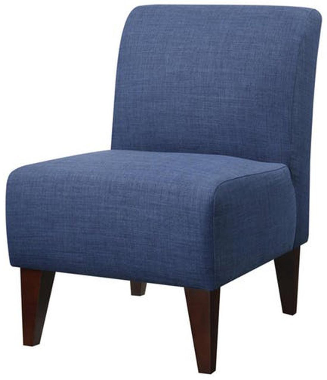 Amie Dark Blue Accent Chair Cb Furniture