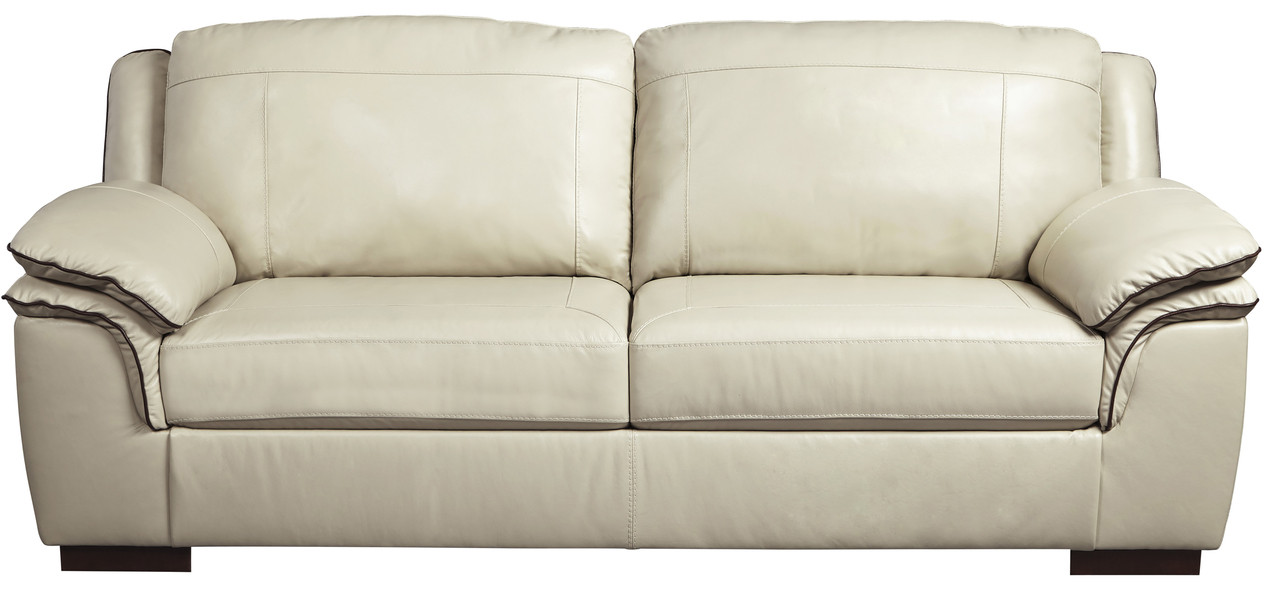 Damon Cream Top Grain Leather Sofa ...