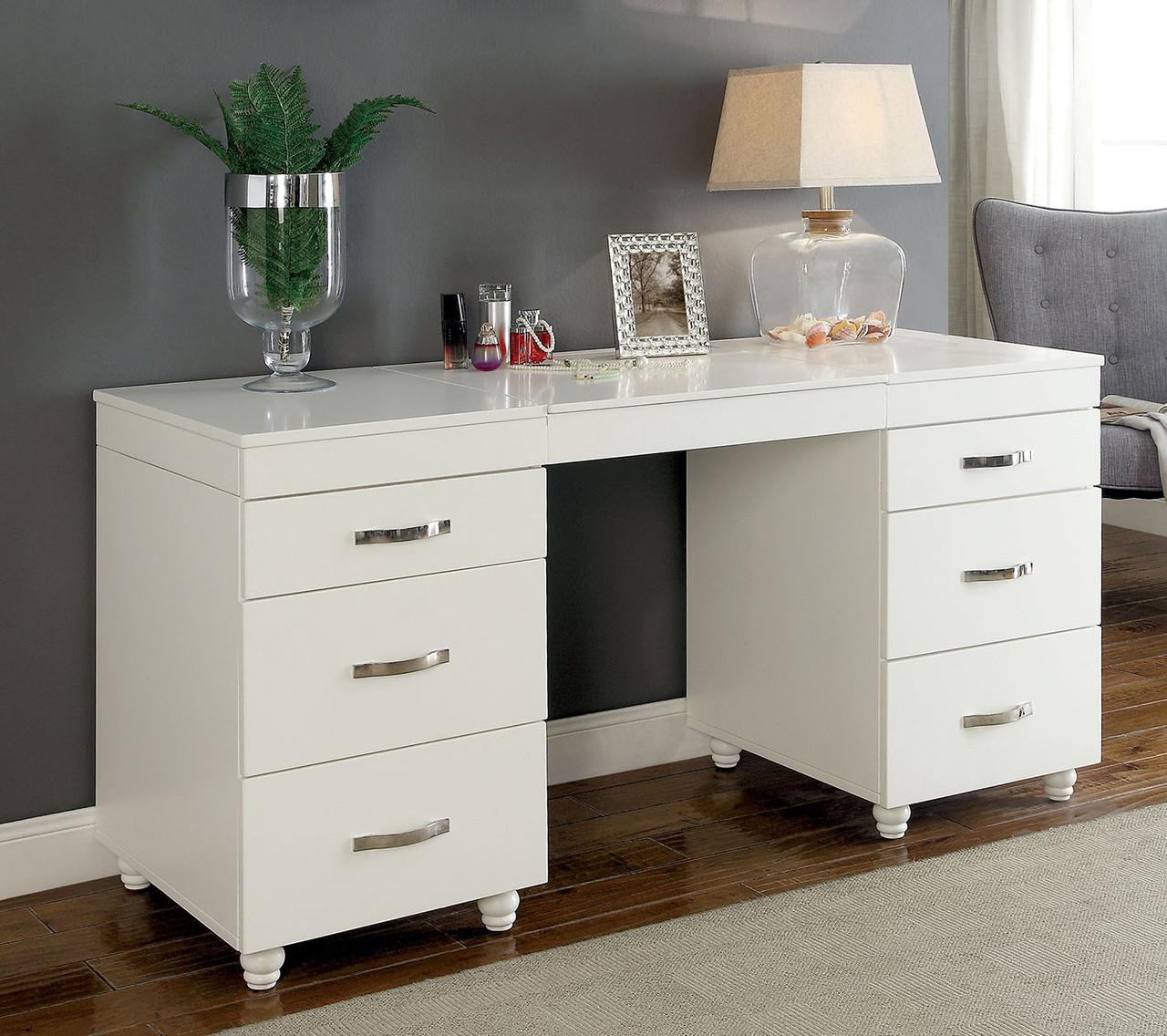 Sancia Vanity Desk With Led Mirror Usb Port Cb Furniture