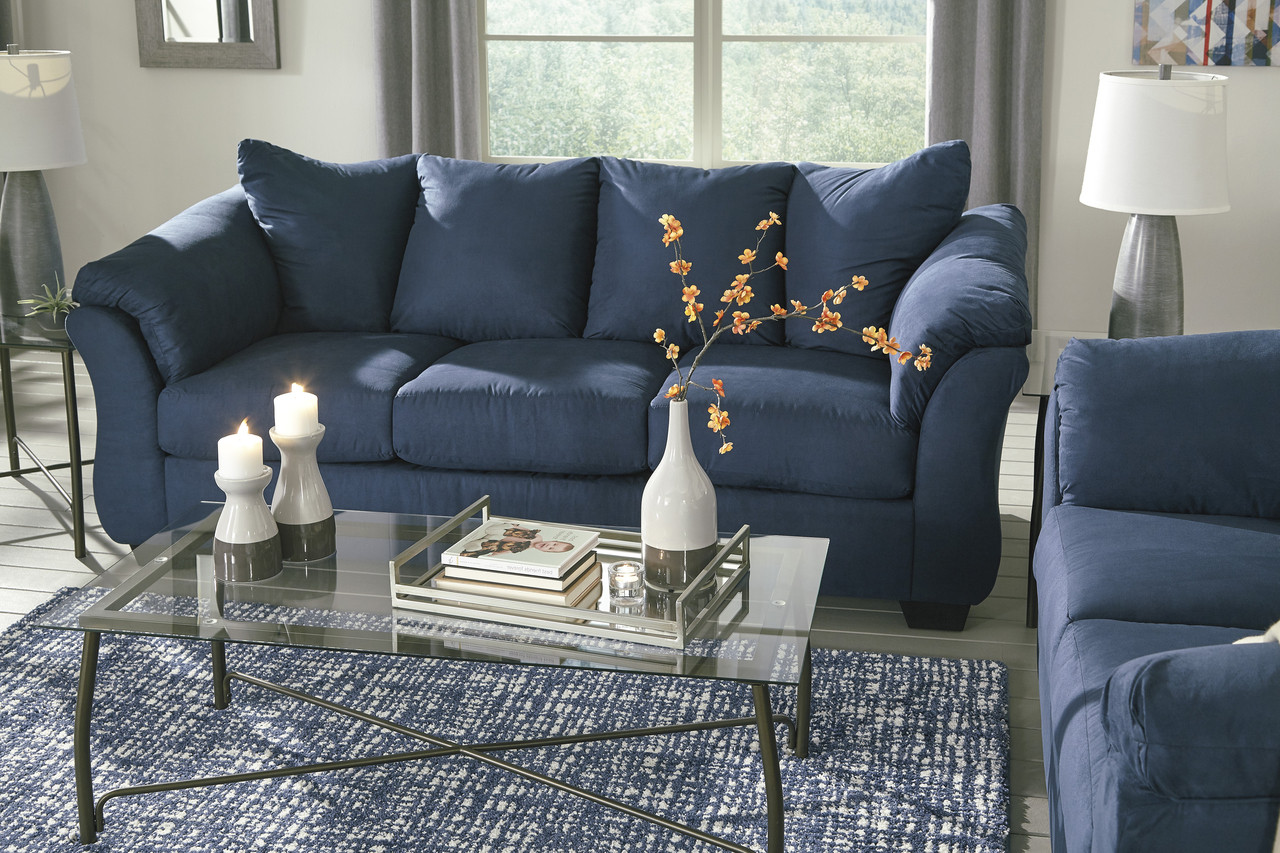royal blue couch living room