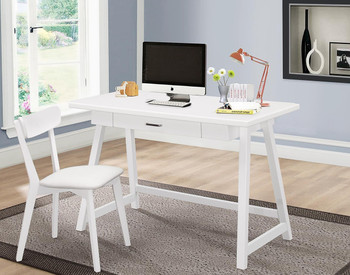 ALEC 47'' Wide White 2-PC Writing Desk With Chair