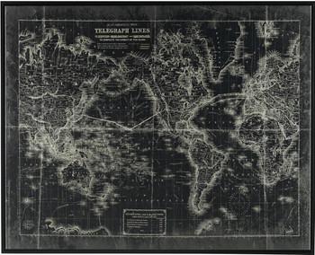 Telegraph Line Map Wall Art