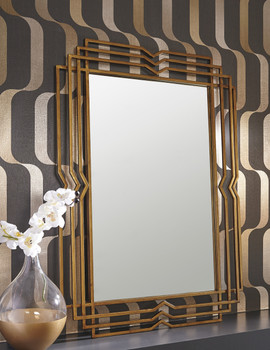 Fler Gold Geometric Wall Mirror