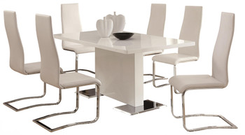 Lexan White Modern Dining Table