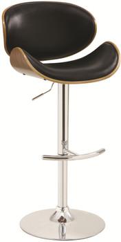 Octavius Black Adjustable Barstool