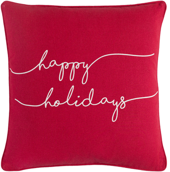 Designer Happy Holidays Pillow
