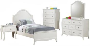 Ayliana White Dresser & Mirror