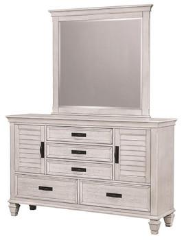 Orchard Antique White Dresser & Mirror