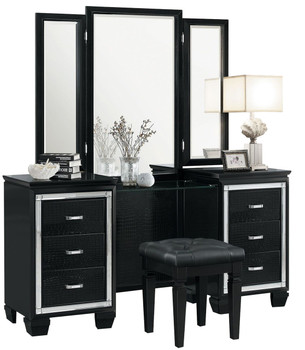 ANNIE Black Vanity With Mirror