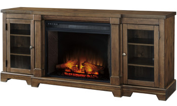 """Belton 75"""" Wide TV Stand with Fireplace"""
