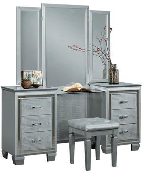 ANNIE Silver Vanity With Mirror