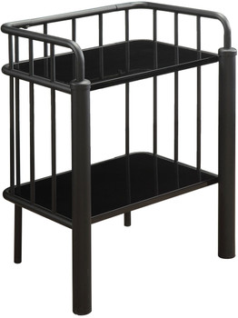 Marla Black Metal Nightstand