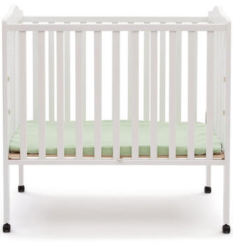 Portababy White Crib with Mattress