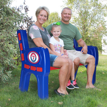"Texas Rangers 48"" Wide Park Bench"
