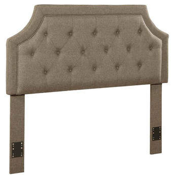 Renny Light Brown Fabric Headboard