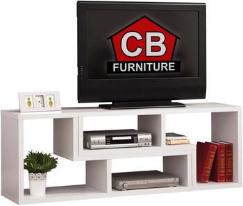 BAI White 59 Inch Wide TV Stand